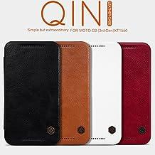 Nillkin MOTO G3 (3rd Gen) XT1550 Qin Leather Case - Retail Packaging - Brown