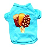 Spbamboo Pet Clothes Puppy Ice cream Shirt Small Dog Cat Costume Vest T Shirt