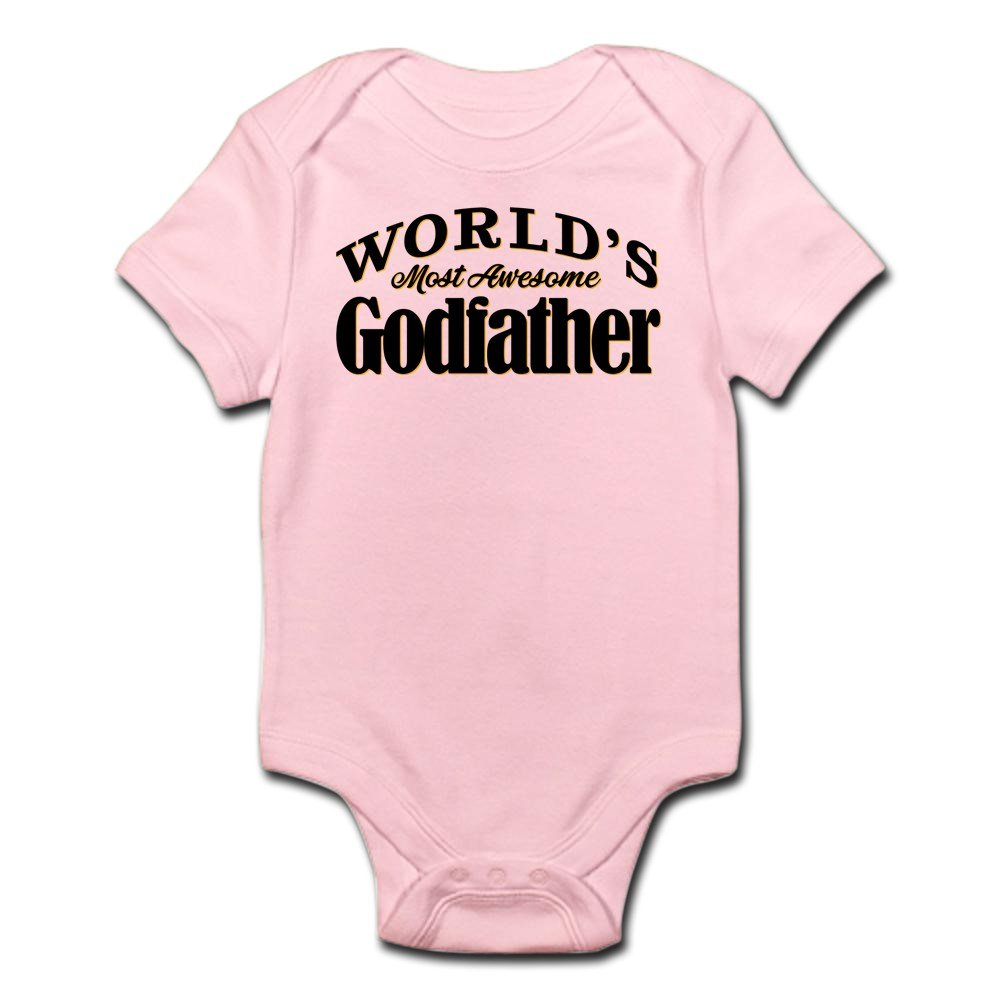 CafePress - World's Most Awesome Godfather - Cute Infant Bodysuit Baby Romper