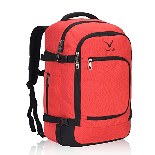 Hynes Eagle Travel Backpack 40L Flight Approved Carry on Backpack, Scarlet