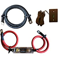 WindyNation Power Inverter 1/0 Cable + ANL Fuse Holder and Fuse + VertaMax Inverter Remote On Off Switch (1/0 Gauge Kit)