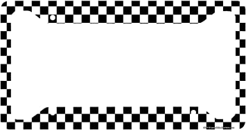 License Tag Holder,Auto Frame Cover Grill Aluminum License Plate Frame UTF4C Black /& White Checkerboard