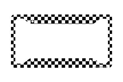 Amazoncom Airstrike Checkered Flag License Plate Frame Black And