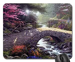 Along The Lighted Path Mouse Pad, Mousepad (Houses Mouse Pad)