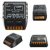MOHOO 20A 12V/24V Solar Charging Controller Switch Panels Battery Regulator Protection