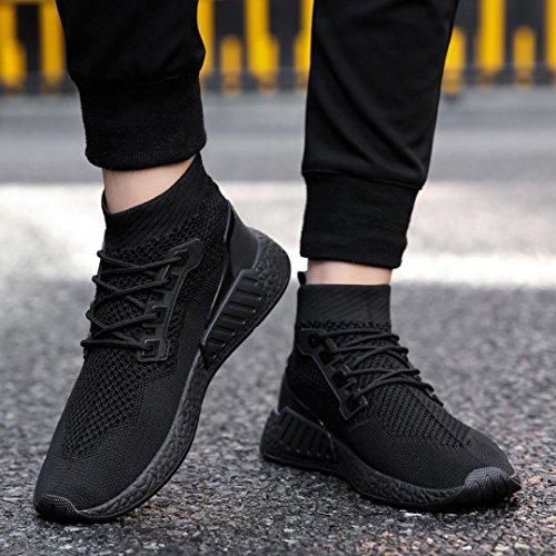 Hatop Chaussures De Sport Pour Les Hommes, Haute Aide Chaussures À Semelle Souple Chaussures De Sport Chaussures Chaussettes Chaussures Noir