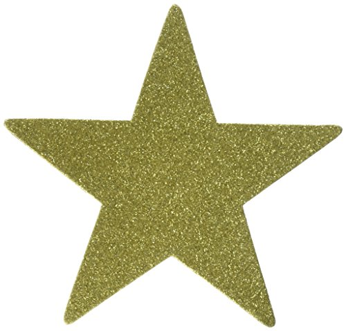 """Discount Amscan 5"""" Star Cutouts (5 CT) Children's Party Decorations, Gold supplier"""