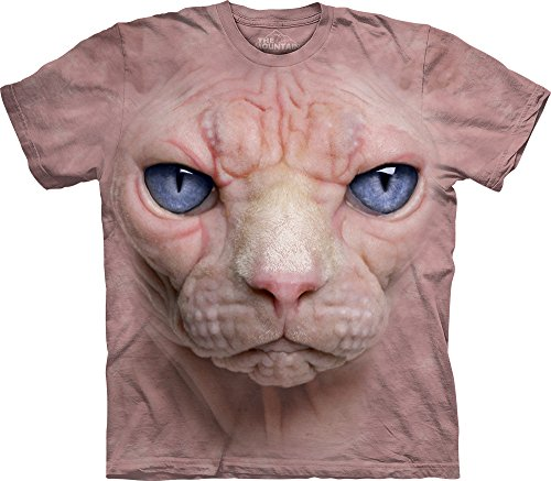 The Mountain Men's Hairless Pussycat T-Shirt, Pink, Small