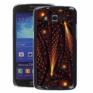 A-type Arte & diseño plástico duro Fundas Cover Cubre Hard Case Cover para Samsung Galaxy Grand 2 (Stars Comet Universe Middle Ages Church)