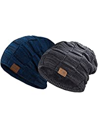 Beanie Hat for Men and Women Winter Warm Hats Knit Slouchy Thick Skull Cap dde833009e4