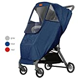 Stroller Weather Shield Rain Cover Universal Size Nano Coating Waterproof Windproof Ventilation-Blue