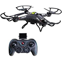 ANNONGONE JJRC H8CH 2.4G 4CH 6-Axis Gyro HD 2.0MP Camera RC Quadcopter Drone RTF Hover Black