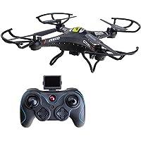 ANNONGONE JJRC H8CH 2.4G 4CH 6-Axis Gyro HD 2.0MP Camera RC Quadcopter Drone RTF Hover Black
