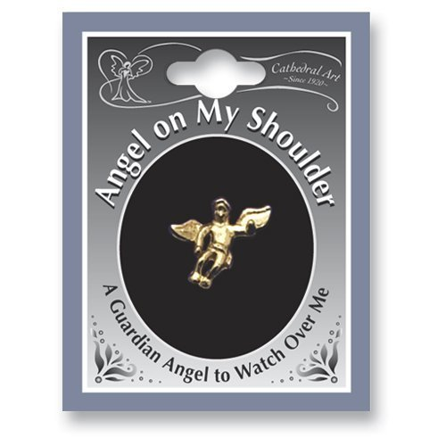 TWELVE (12) ANGEL on My Shoulder LAPEL Pins - Inspirational GUARDIAN ANGEL .5
