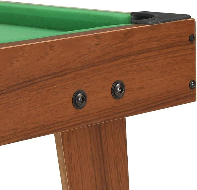 vidaXL Mini Mesa de Billar Juego Simulación Deportes Diversión Casa Hogar Pub Local Sala Juegos Entretenimiento Robusto Marrón y Verde 92x52x19cm: Amazon.es: Deportes y aire libre