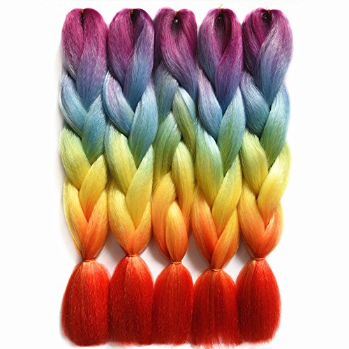 Braiding Extension Synthetic Kanekalon Rainbow product image