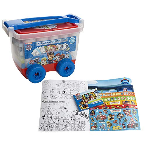 - Paw Patrol Roll Along Activity Set Over 100 Pieces - Sticker Scenes, Sticker Sheets, Coloring Sheets, Crayons