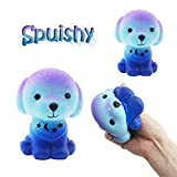 Tianjinrouyi Squishy Toys Slow Rising Cute Puppy Cream Squeeze Toys Stress Relief Squishy Jumbo Kawaii Squishies for Boys Girls Adults Kids,Lovely Toy Cell Phone Straps Key Chains Decompression Toys