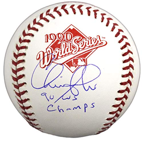 seball - Rawlings 1990 World Series w 90 WS Champs - Autographed Baseballs ()