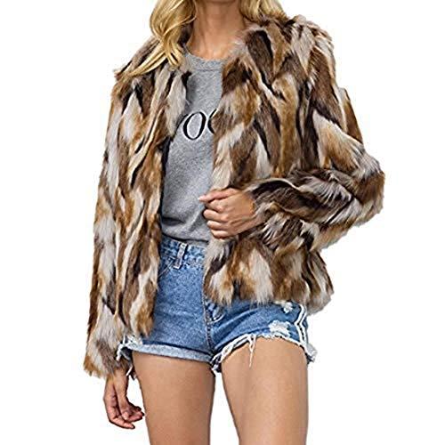 (Comeon Women's Faux Fur Coat Fashion Winter Warm Outwear Jacket Cardigan Cocktail Club Party)