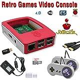 RetroBox - Raspberry Pi 3 Based Retro Game Console, 32GB Red Edition with Heatsinks Installed, RetroPie