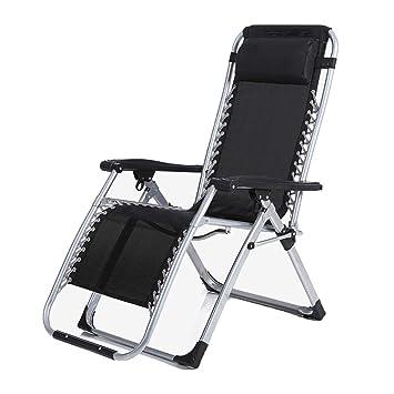Amazon.com: XBZDC Black Deck Chairs, Outdoor Fishing Folding ...