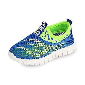KODOO Kids Mesh Sneaker Lightweight Breathable Slip On Athletic Water Shoes For Boys Girls (11.5 M US Little Kid, Blue)