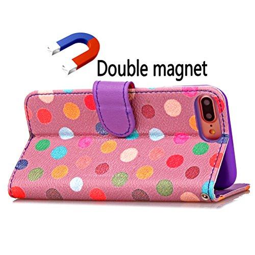 Funda Libro para iPhone 8 Plus,Manyip Suave PU Leather Cuero Con Flip Cover, Cierre Magnético, Función de Soporte,Billetera Case con Tapa para Tarjetas, Funda iPhone 8 Plus C