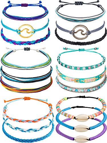 meekoo Women Wave Strand Bracelet Set Adjustable Friendship Bracelet Handmade Handcrafted Jewelry (Style 1 )