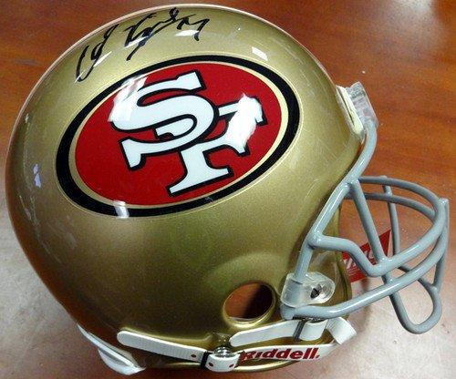 ned San Francisco 49ers Riddell Proline Football Helmet - Autographed Football Helmet ()