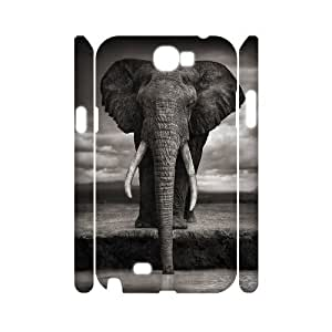 Elephant Phone Case For Samsung Galaxy Note 2 N7100 [Pattern-1]