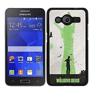 Funda carcasa para Samsung Galaxy Core 2 diseño the walking dead 2 borde negro