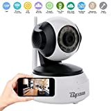 BAVISION Wifi Wireless IP Home Security Camera Baby Monitor Pet/Dog/Nanny/Elder Camera Plug/Play Pan/Tilt Remote Streaming Video Cameras with Two-Way Audio and Night Vision