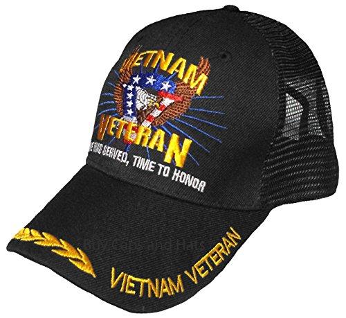Vietnam Veteran Cap w/ Bumper Sticker Eagle Hat Army Navy Air Force Marine