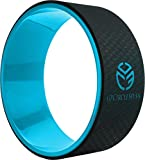 UPCIRCLESEVEN Yoga Wheel - Strongest & Most Comfortable Dharma Yoga Prop Wheel, Perfect Platform For Stretching and Improving Backbends, 12 x 5 Inch Basic (Blue)