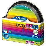 三菱ケミカルメディア Verbatim 1回記録用 DVD+R DL DTR85HP10SV1 (片面2層/2.4-8倍速/10枚)
