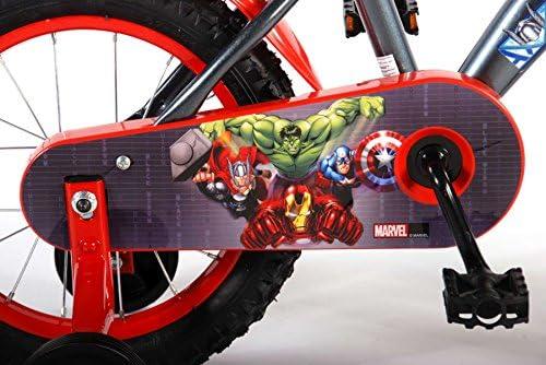 Bicicleta infantil Marvel The Avengers 14 pulgadas bicicleta infantil con freno de contrapedal: Amazon.es: Deportes y aire libre
