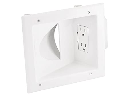 Amazon Com Monoprice 108475 Recessed Low Voltage Media Wall Plate