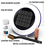 Solar Pool Ionizer: Kill Algae Using 80% Less Chlorine & Keeps Water Sparkling Clear Without Algaecides | Treats Swimming Pools 500—50,000 Gallons | Saltwater, Chlorinated, In-ground, & Above-Ground