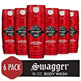 Old Spice Men's Body Wash, Swagger Scent, Red Collection 16 Fl Oz (Pack of 6)