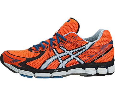ASICS Men's GT-2000 Running Shoe (9.5 D(M) US, Neon Orange/White)