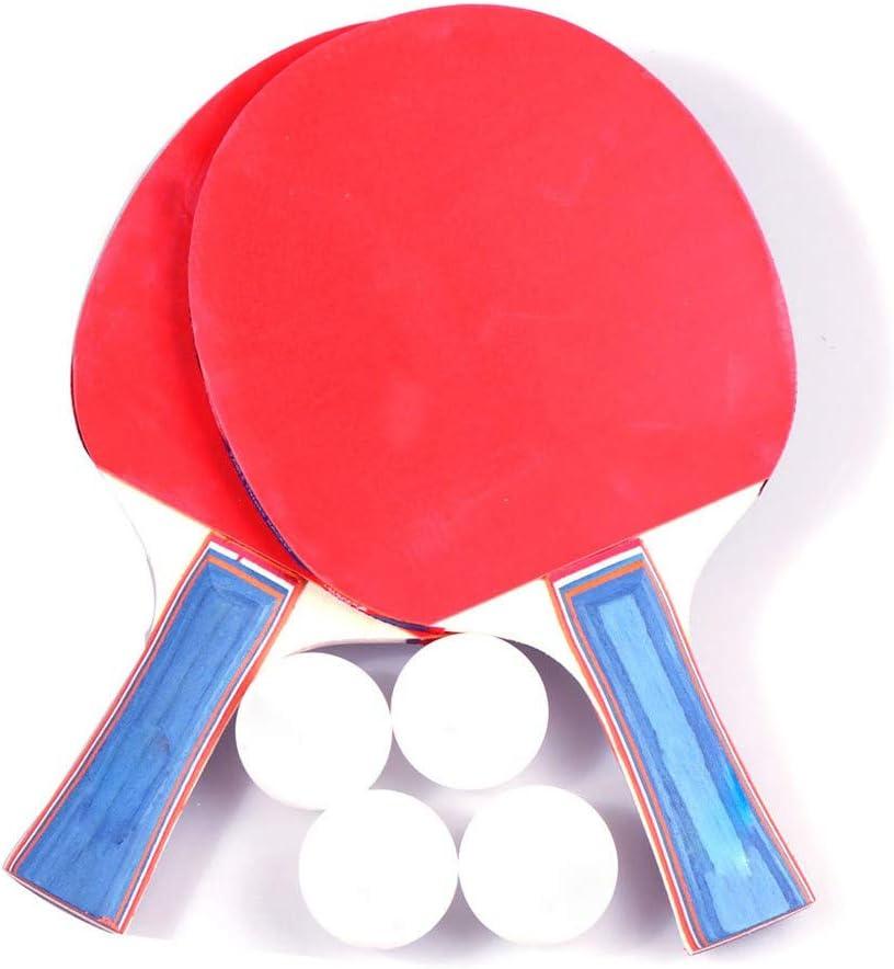 Bascar - Juego de palas de tenis de mesa para principiantes, 2 palas de ping-pong profesionales, ideal para principiantes, familias y profesionales