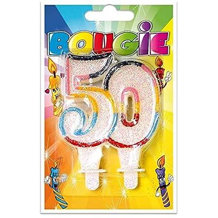 S R/BBA05-1 - Vela de cumpleaños (50 años): Amazon.es: Hogar