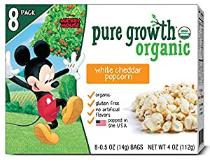 Pure Growth Organic Mickey Mouse White Cheddar Popcorn, 4 Ounce