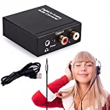 NCElec Digital to Analog Audio Converter with Extra 3.5mm Audio Output, 192KHz 24-bit Optical and Coaxial DAC (Updated Version)