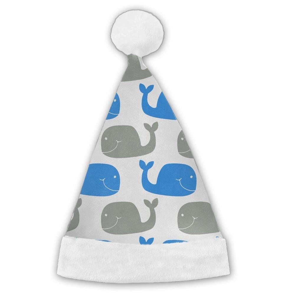 PengMin Whale Sticker Luminous Pattern Christmas Hats Adult and Kid Santa Hat