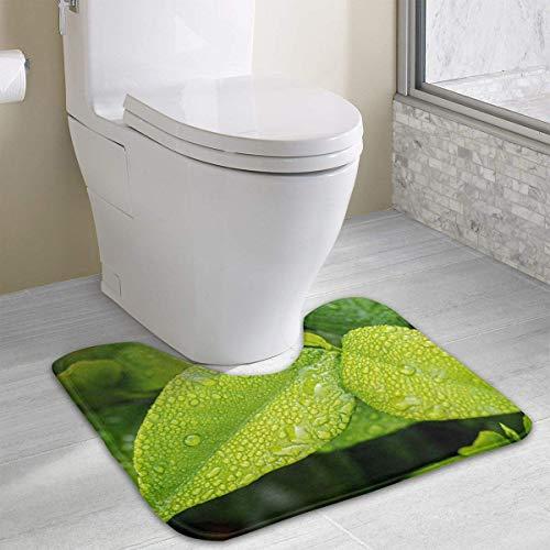 Bennett11 Leaf Contour Bath Rugs,U-Shaped Bath Mats,Soft Memory Foam Bathroom Carpet,Nonslip Toilet Floor Mat 19.2″x15.7″