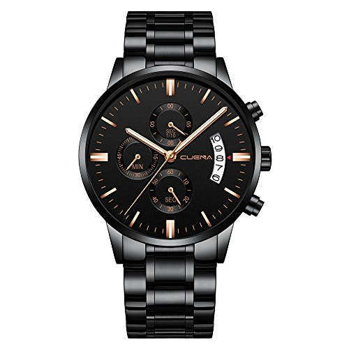 CUENA Men Casual Stainless Steel...