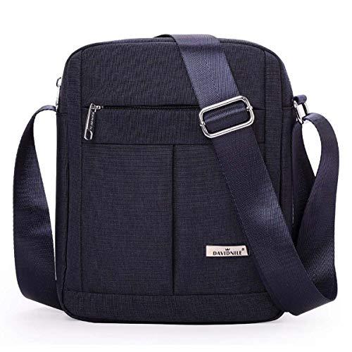 Men's Messenger Bag-Crossbody Shoulder Bags Travel Bag Man Purse Casual College School Bookbag Sling Pack for Work Business (1401-2-Blue)