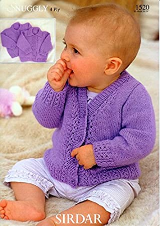 Sirdar Snuggly 4ply Baby Knitting Pattern 1520 Amazon Home